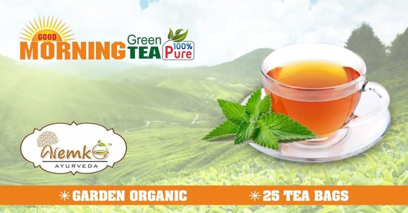 Nemko Ayurveda Good Morning Green Tea Tulsi Green Tea Bags(50 g, Box)