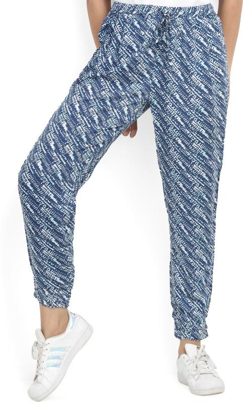 Biba Slim Fit Women Blue Trousers