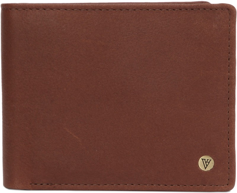 Van Heusen Men Tan Genuine Leather Wallet(8 Card Slots)