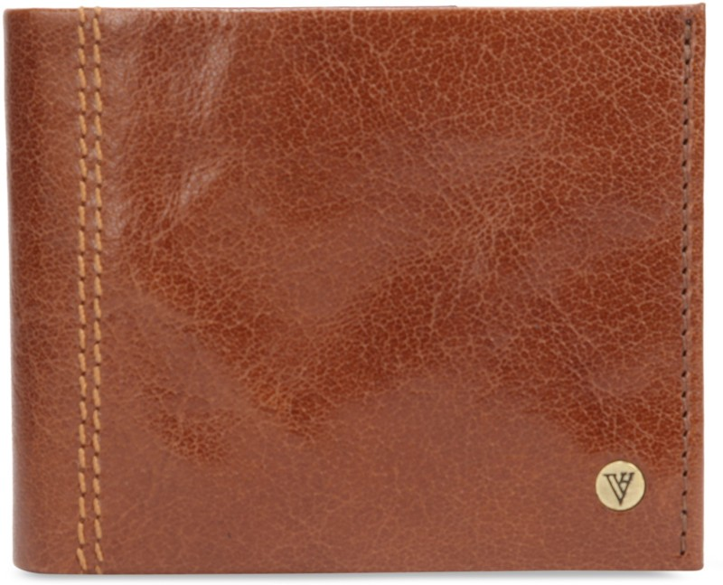 Van Heusen Men Brown Genuine Leather Wallet(8 Card Slots)