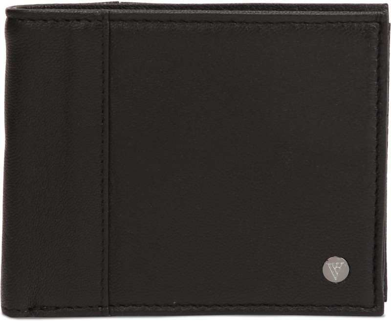 Van Heusen Men Black Genuine Leather Wallet(3 Card Slots)