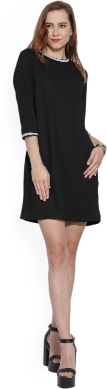 AND Womens Shift Black Dress
