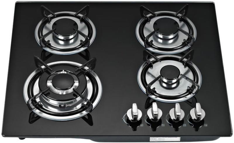 Ariva Glass Automatic Gas Stove(4 Burners)