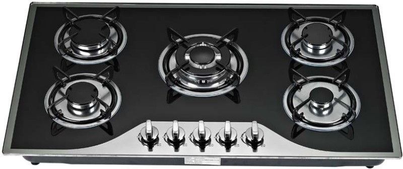 Ariva Stainless Steel Automatic Gas Stove(5 Burners)