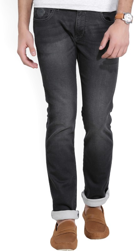 Wrangler Slim Mens Black Jeans