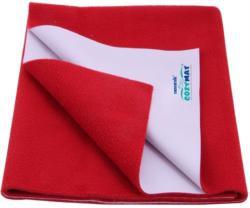 Cozymat Soft, Waterproof, Reusable Mat / Underpad / Quick / Absorbent Dry Sheets / Mattress Protector, Small (50cm*70cm)(Red)
