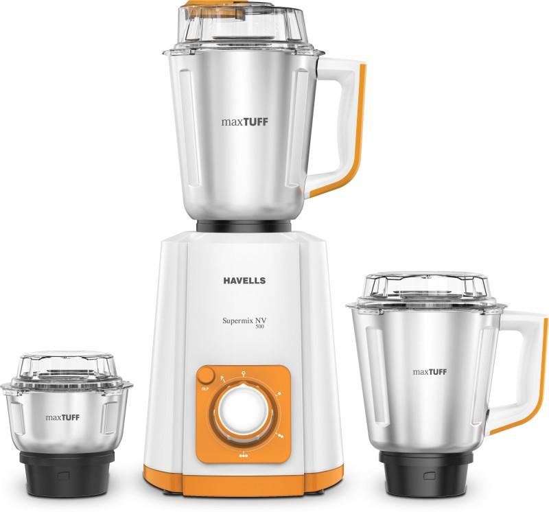Havells Super Mix Nv 500 Mixer Grinder(Orange, 3 Jars)