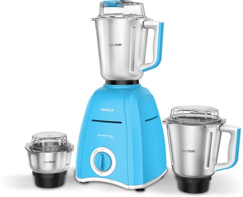 Havells Momenta Nv 750 Mixer Grinder(Blue, 3 Jars)