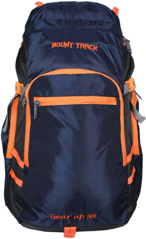 Mount Track Gear up Rucksack, Hiking Backpack With With Laptop Compartment Rucksack - 50 L(Blue)