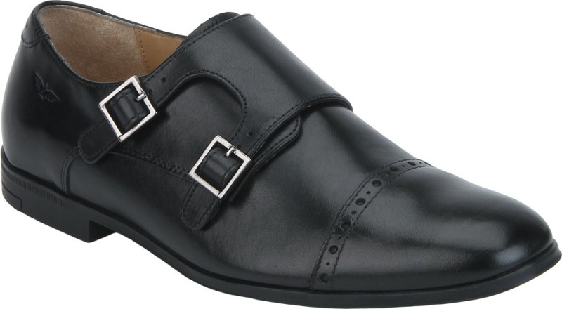 Park Avenue Monk Strap For Men(Black)