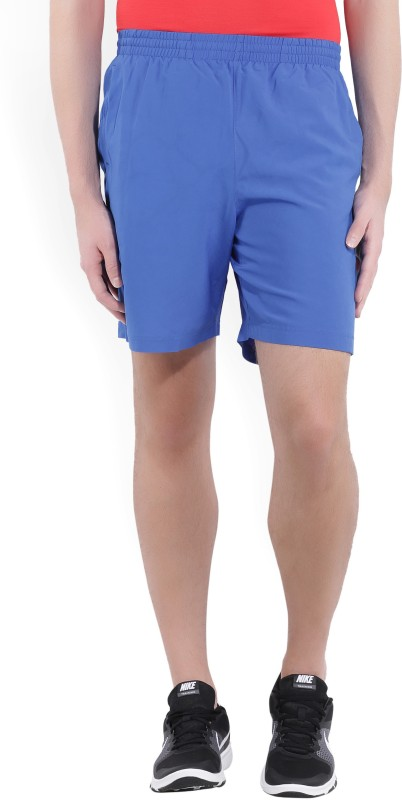 Under Armour Solid Mens Blue Sports Shorts