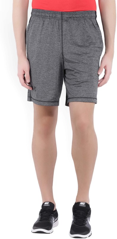 Under Armour Solid Mens Grey Sports Shorts