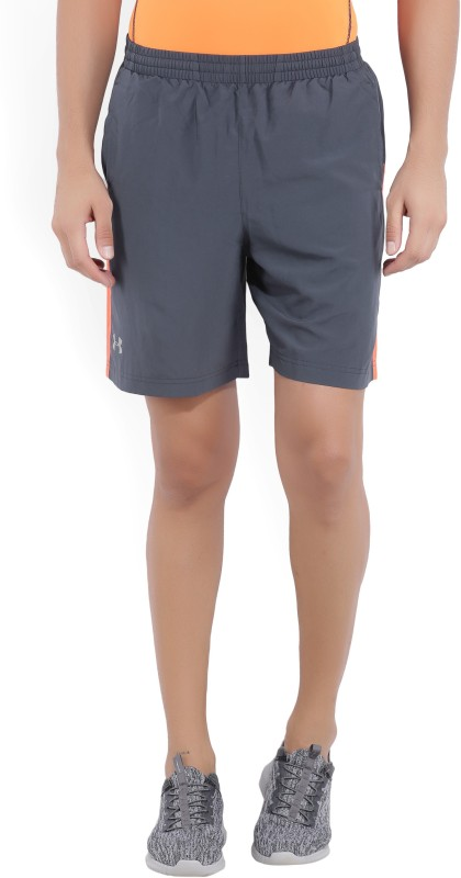 Under Armour Solid Men's Grey Sports Shorts