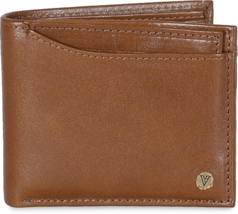 Van Heusen Men Brown Genuine Leather Wallet(12 Card Slots)