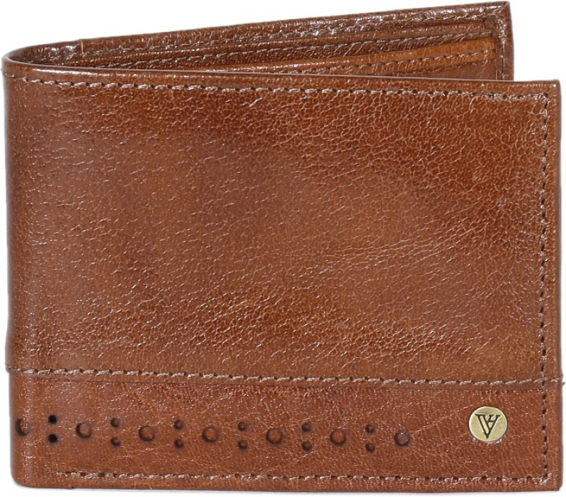 Van Heusen Men Brown Genuine Leather Wallet(6 Card Slots)