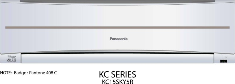Panasonic 1.2 Ton 5 Star BEE Rating 2017 Split AC - White(CS/CU-KC15SKY5R, Copper Condenser)