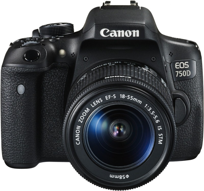 Canon EOS 750D Body with Single Lens: 18-55mm (16 GB SD Card + Camera Bag) DSLR Camera(Black)
