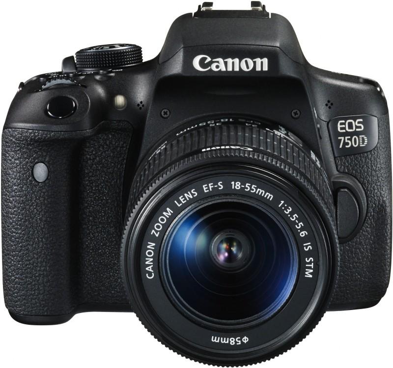 Canon EOS 750D Body with Single Lens: 18-55mm (16 GB SD Card + Camera Bag) DSLR Camera(Black)