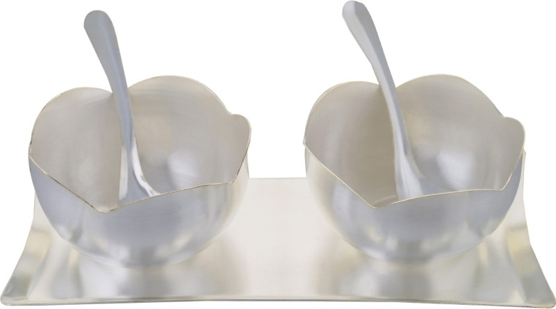 Soft Art Classic Bowl Set  Silver Plated Decorative Platter(Silver, Pack of 5)