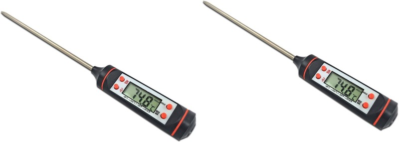 CASON Set Of 2-101-Digital Probe for Kitchen Cooking Food Meat barbecue BBQ Laboratory Factory-b -50 °C to + 300 °C Thermometers Thermometer with Fork Kitchen Thermometer