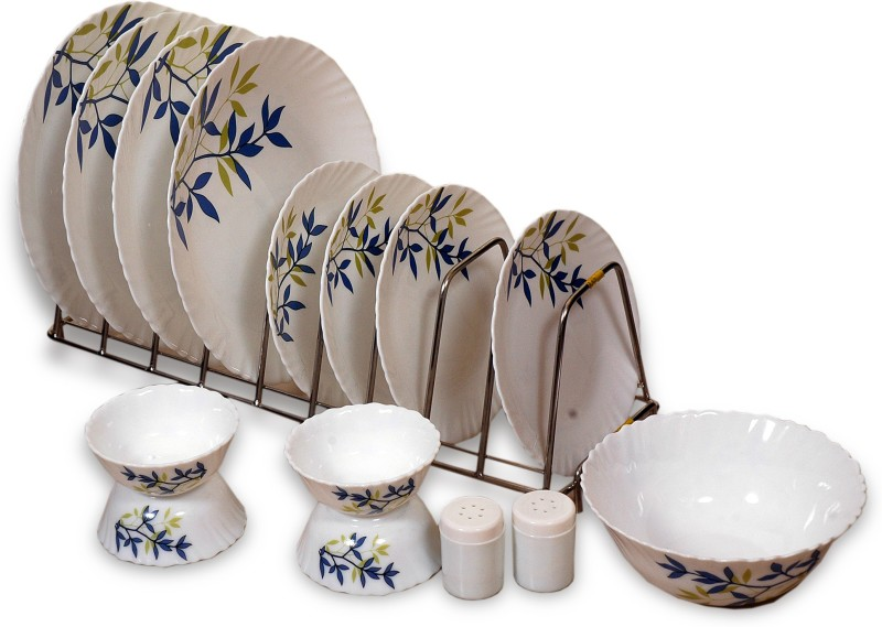 Laopala Silken Charm Pack of 15 Dinner Set(Opalware)