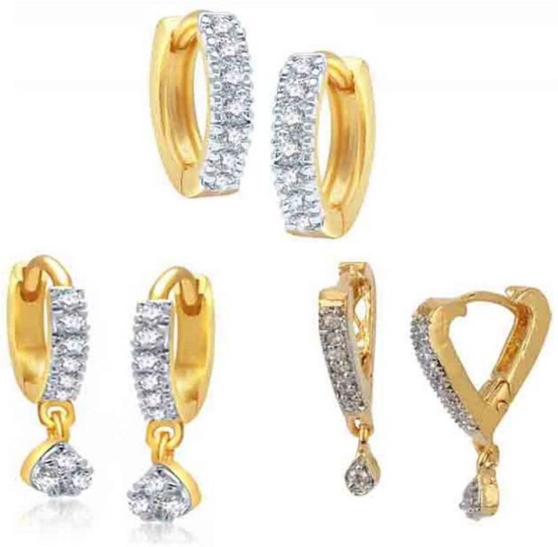 Zeneme Combo of Trendy Earrings Jewellery For Women and Girls (Combo of 3) Alloy Earring Set