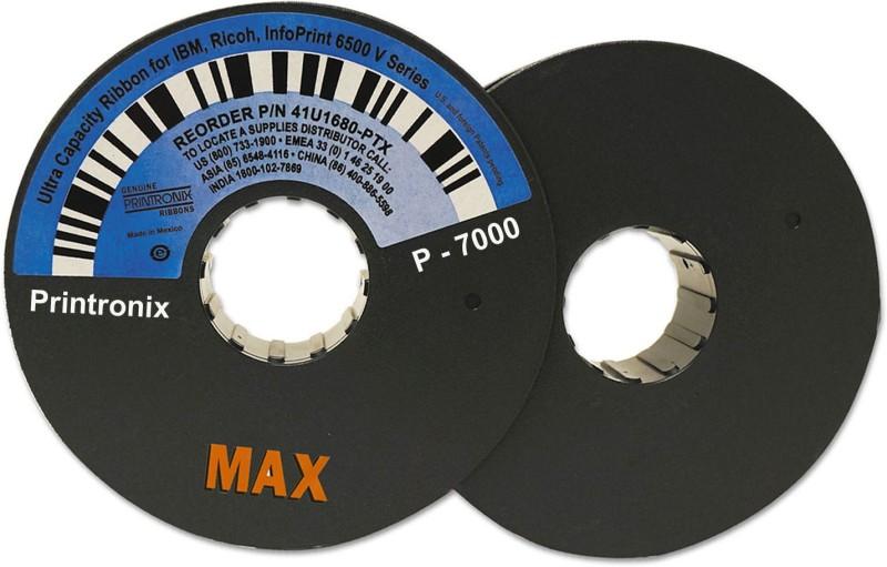 Max Printronix P 7000 Ultra Capacity Printer Ribbon Spool For Line Printers Single Color Ink Cartridge(Black)