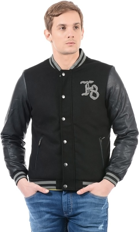 Flying Machine Full Sleeve Solid Men Jacket