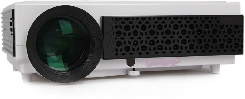 WOXAN WX-08 2500 lm LCD Corded Portable Projector(White)