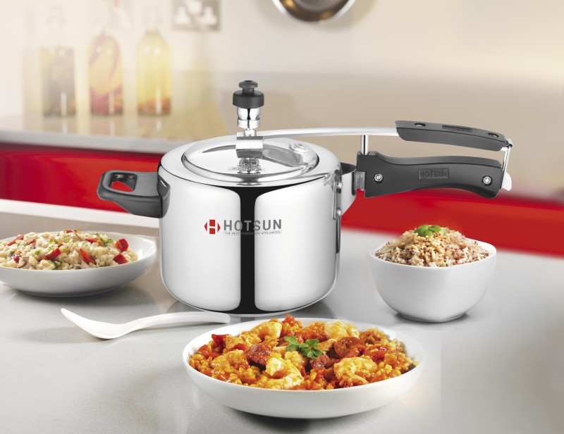 Hotsun Cute Pressure Cooker 3Ltr-Silver-Induction base 3 L Induction Bottom Pressure Cooker(Aluminium)