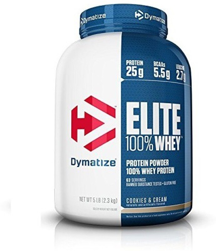 Dymatize Elite Whey Protein(2270 g, Cookies, Cream)