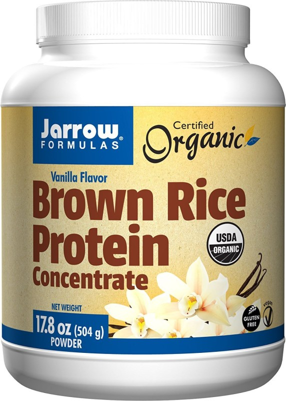 Jarrow Formulas Brown Rice Protein Concentrate 17.8 oz (504 gm) Vanilla Flavor Protein Cereal(504 g, Vanilla)