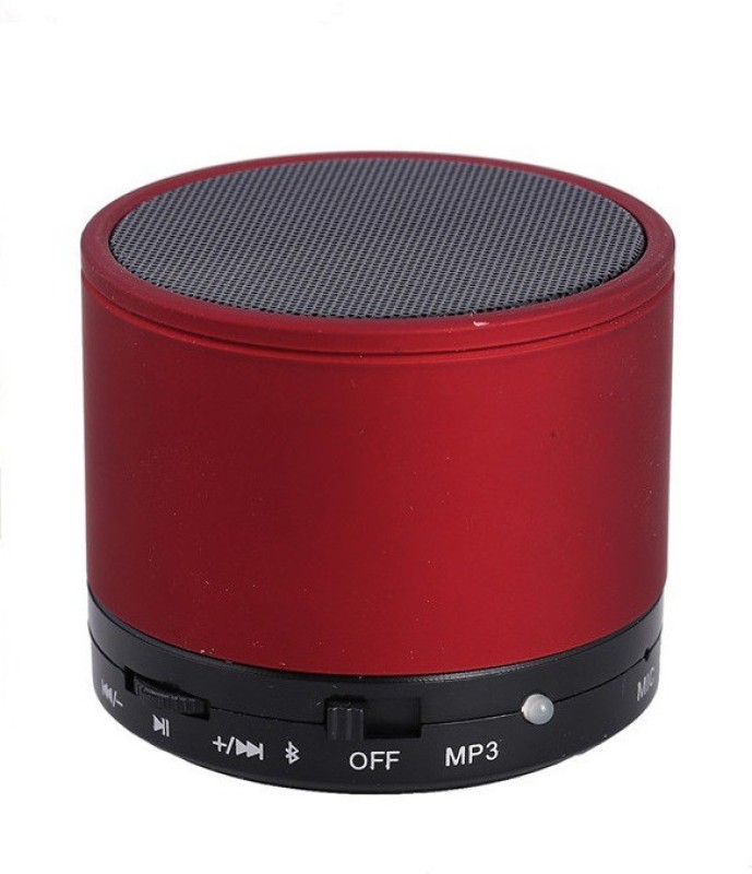 VibeX ® Wireless LED Bluetooth Speakers S10 Handfree with Calling Functions 15 W Bluetooth Speaker(Red, Mono Channel)