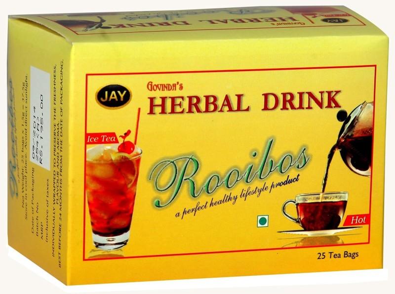 TE-A-ME Jay Teas Rooibos Infusion Tea Unflavoured Green Tea Bags(25 Bags, Box)