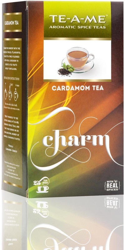 TE-A-ME Cardamom Tea Pack Cardamom Green Tea Bags(25 Bags, Box)