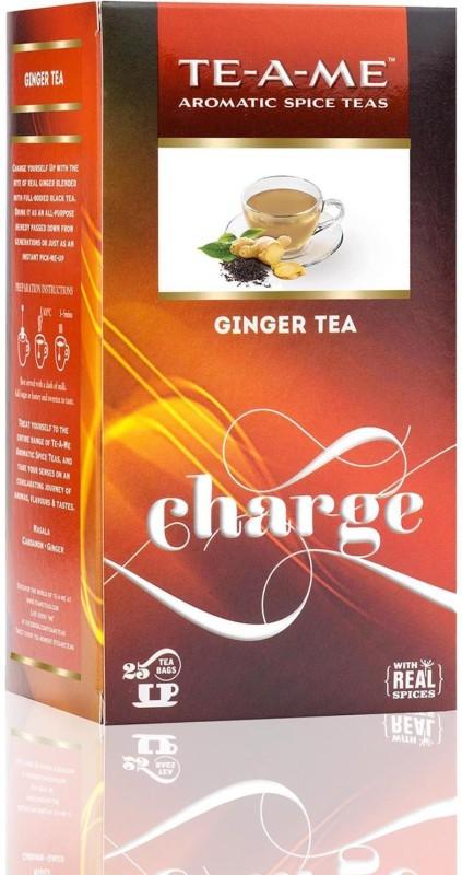 TE-A-ME Ginger Tea Pack Ginger Green Tea Bags(25 Bags, Box)