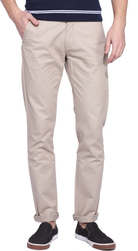 Izod Slim Fit Mens Beige Trousers