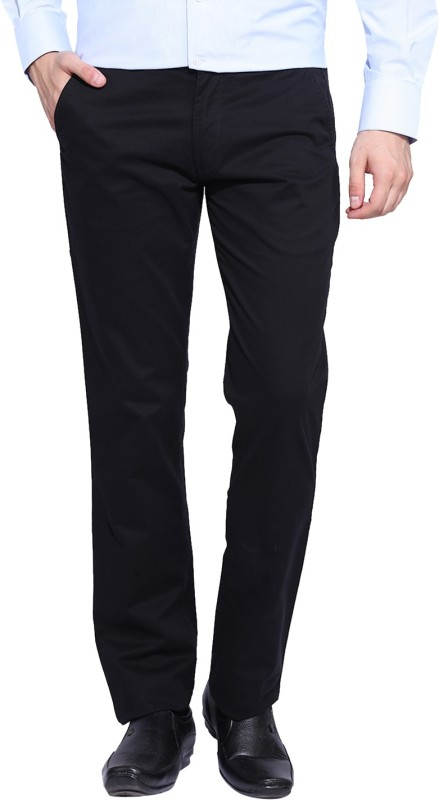 Izod Slim Fit Mens Black Trousers