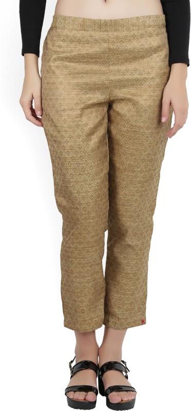 Biba Regular Fit Women's Beige Trousers