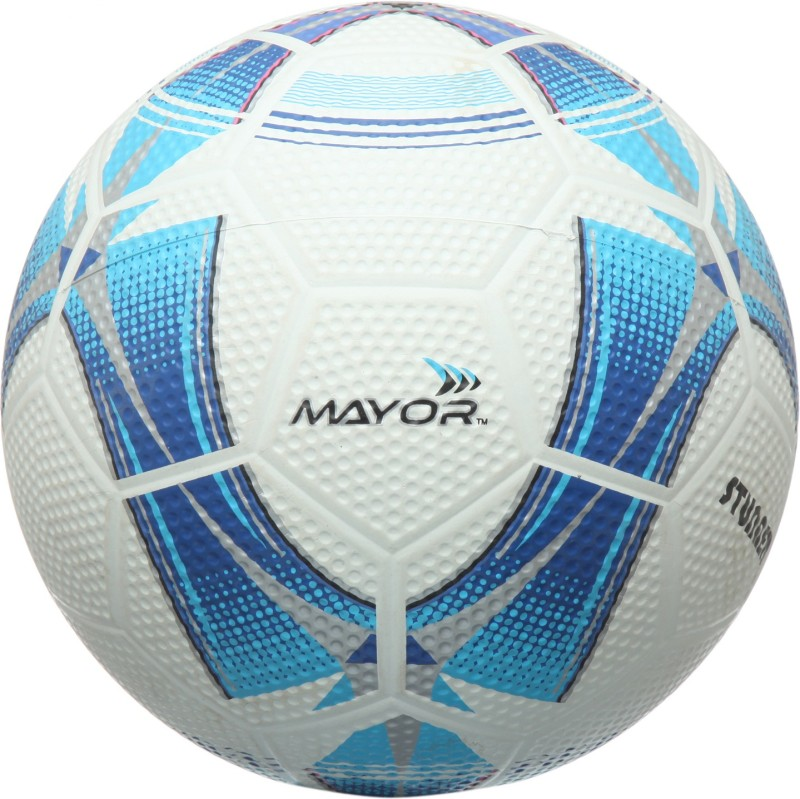 Mayor Stunner Football - Size: 5(Pack of 1, White, Blue)
