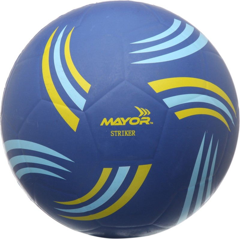 Mayor Striker Football - Size: 5(Pack of 1, Blue)