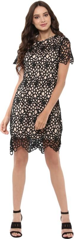 Jaunestore Women Sheath Black Dress