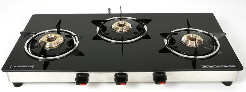 yallowchilli 0121 Stainless Steel Manual Gas Stove(3 Burners)