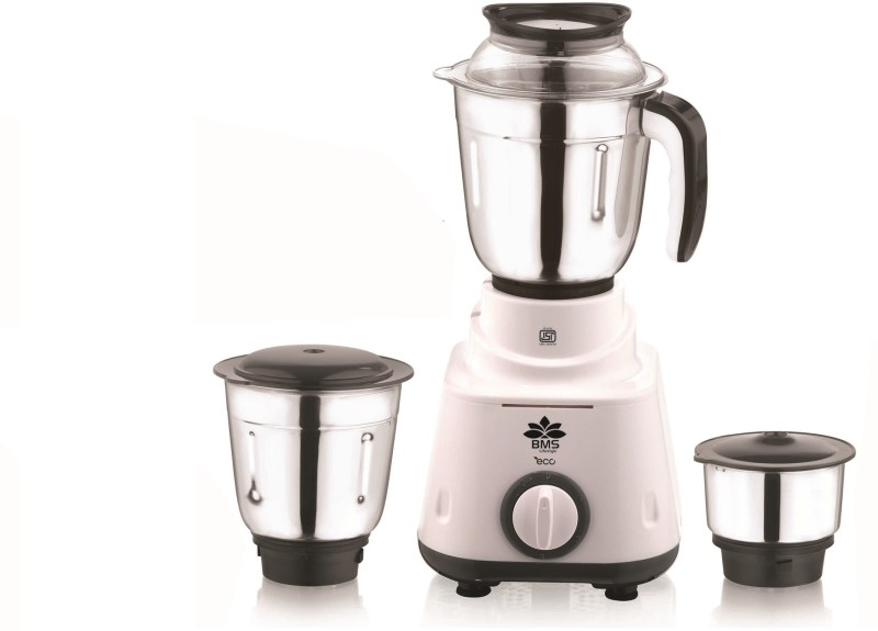 BMS Lifestyle Eco with 3 Jars 600 Juicer Mixer Grinder(White,...