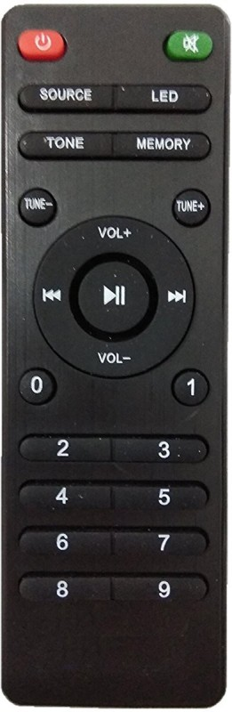 LipiWorld INEX Home Theater System Compatible For INTEX Home Theater Remote Controller(Black)