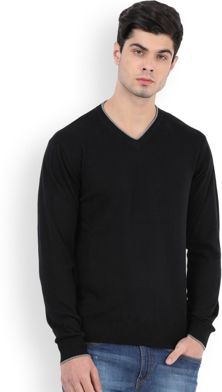 Lee Solid Casual Mens Sweater