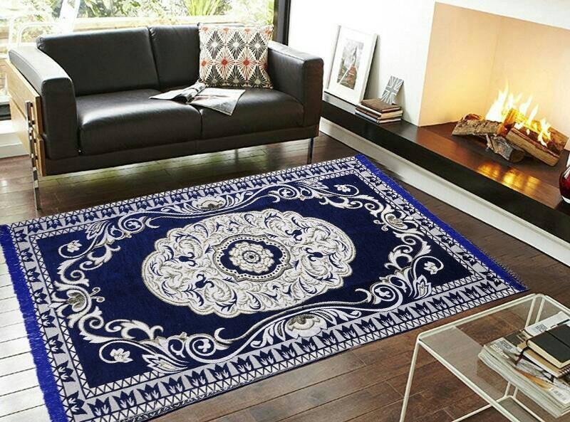 JUSTWAY Multicolor Cotton Carpet(154 cm X 215 cm)