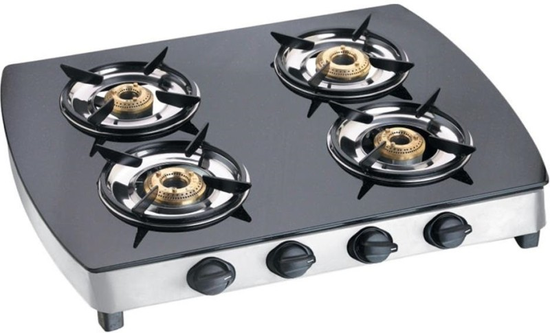yallowchilli 01234 Stainless Steel Manual Gas Stove(4 Burners)