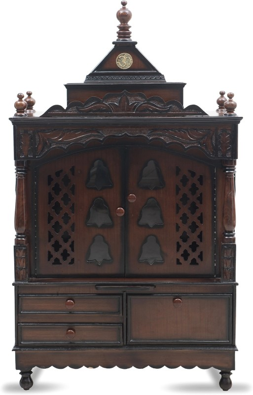 DZYN Furnitures Himalyan Solid Wood Home Temple(Height: 135 cm)