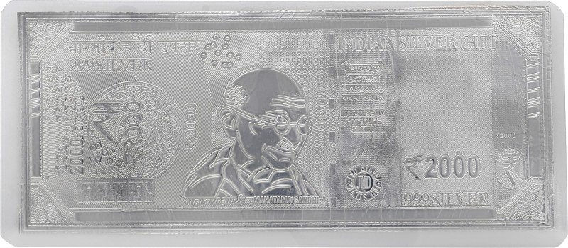 Jewel99 Two thousand Rupee Silver Platinum Silver Currency